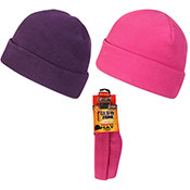 Ladies Heated Hat With Heat 2x Packs Assorted