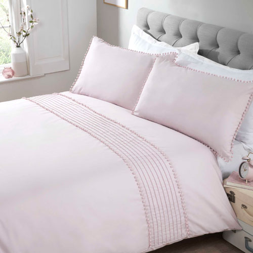 Pom Pom Luxury Duvet Set Blush