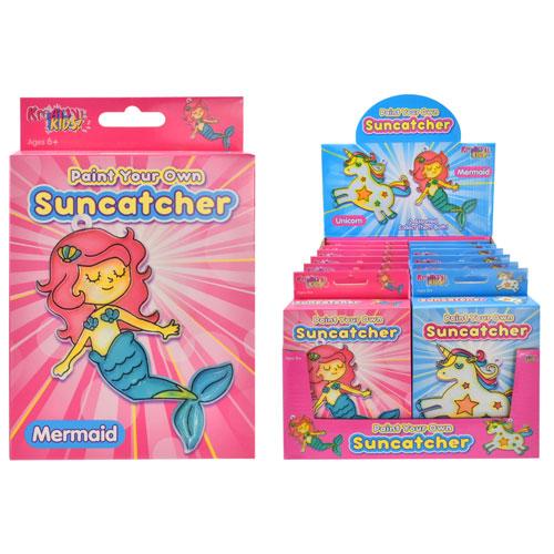 Paint Your Own Suncatcher Mermaid & Unicorn