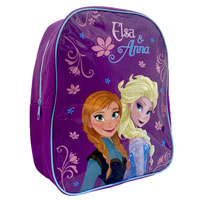 Official Frozen Elsa And Anna Backpack Purple