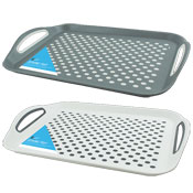 Anti Slip Serving Tray With Grip Handles