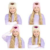 Kids Love Heart Reversible Sequins Hat