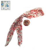 Neck Scarves Flower Print Assorted