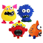 Monster Design Vinyl Dog Toy With Squeaker