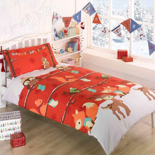 Childrens Christmas Bedding - Woodland Christmas