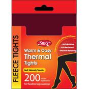 Silky 200 Denier Thermal Fleece Tights Wine