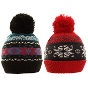 Kids Assorted Winter Bobble Hats