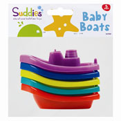 Little Stars Bath Toy Boats 5 Pack