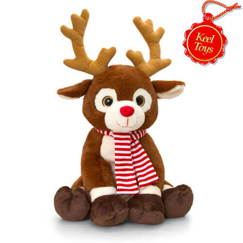 Christmas Reindeer With Scarf