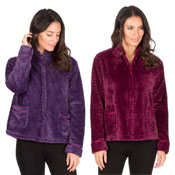 Ladies Waffle Bed Jacket Plain Purple/Berry