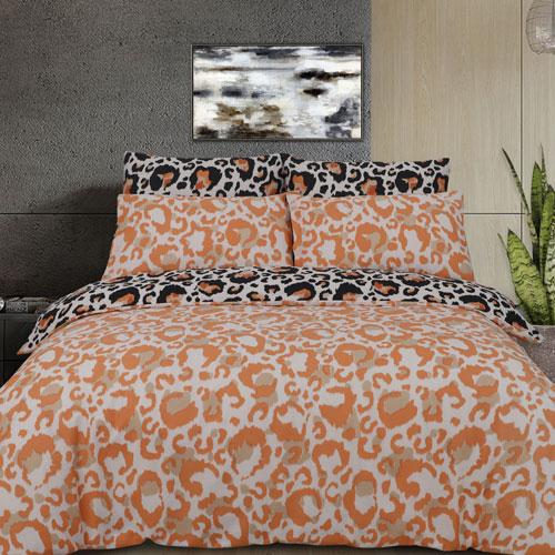 Large Leopard Print Reversible Duvet Set