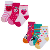 Baby Novelty Design Socks Animals/Fruits