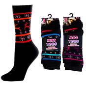 Hot Toes Thermal Fashion Reindeer Dark Socks