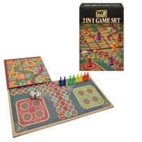 2 in 1 Snakes And Ladders And Ludo Game Set