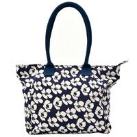 Big Flower Tote Bag Navy