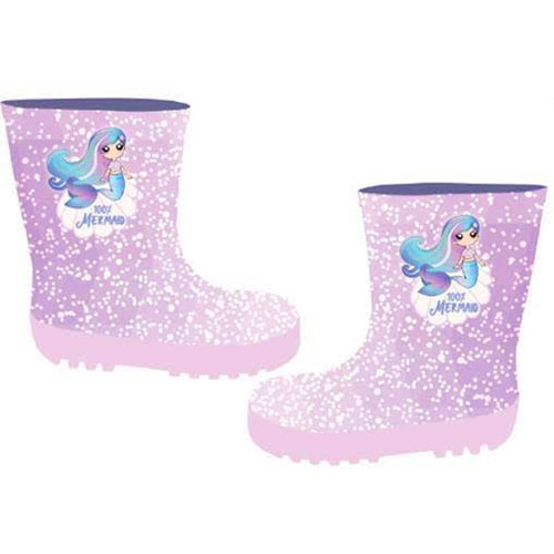 Childrens Glitter Mermaid Wellies