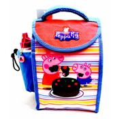 Peppa Pig Deluxe Lunch Bag With Bottle