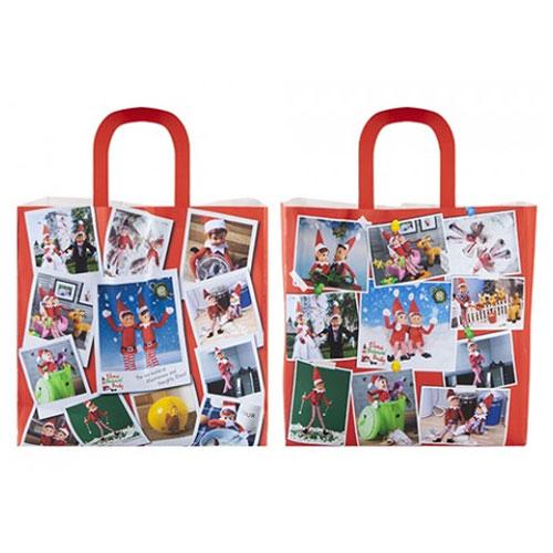 Christmas Elf Collage Shopping Bag