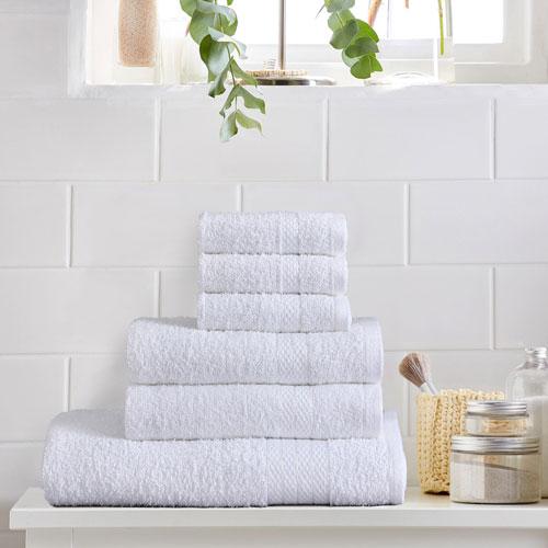 6 Piece Luxury Towel Bale Set White