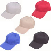 6 Panel Baseball Cap Assorted