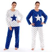 Ladies Micro Fleece Pyjama Stella Star Print