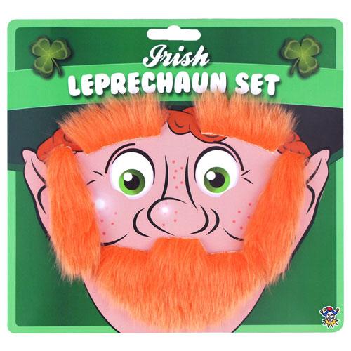 St Patrick's Day Leprechaun Facial Hair Set