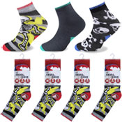 Skeleton Design Kids Novelty Socks