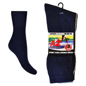 Mens Active Zone 3 Pack Sports Socks Assorted
