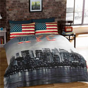 New York City Reversible Duvet Set