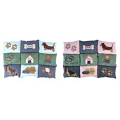 Faux Suede Printed Patchwork Pet Mat