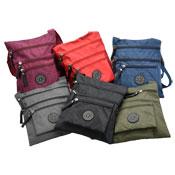 Ladies Shoulder Bag With Zip Pockets Dark Colours