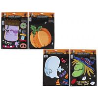 4 Assorted Halloween Window Stickers
