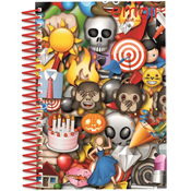 Emoji A5 Soft Cover Notebook with Sticker Sheet