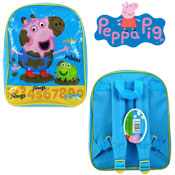 Official Peppa Pig George Frog Junior Backpack