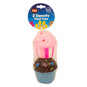 Cup Cake Squeaky Vinyl Toys