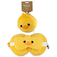 Cutiemals Duck Round Travel Pillow And Eye Mask