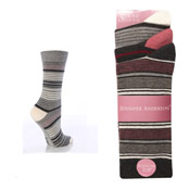 Ladies Stripe Socks Jennifer Anderton