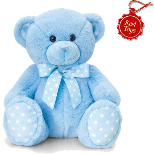Baby Spotty Bear Blue