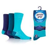 Mens Gentle Grip Socks Colourburst Aqua