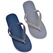 Mens Solid Plain Grey/Navy Flip Flops