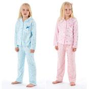 Girls Pink & Blue Star Pyjamas