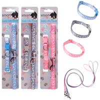 Small Dog And Puppy Lead And Collar Set