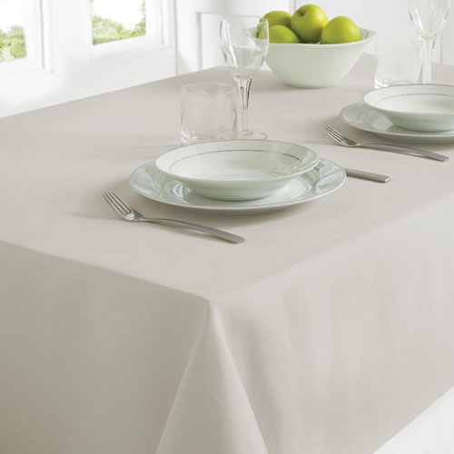 Linen Look Table Cloth Grey Medium