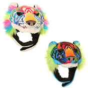 Kids Soft Fleece Tiger Novelty Hat