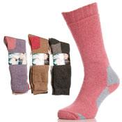Ladies Wool Hike & Ski Socks