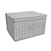 Grey Knitted Design Jumbo Storage Chest