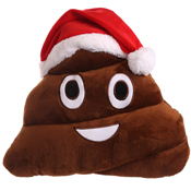 Christmas Plush Poo Cushion