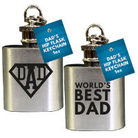 Fathers Day 1oz Hip Flask Keychain