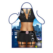 Novelty Apron Female Police Officer