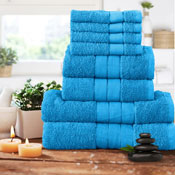 Luxurious 8 Piece Towel Bale Set Aqua
